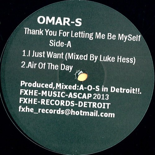 OMAR S THANK YOU FOR LETTING ME BE MYSELF PART 1